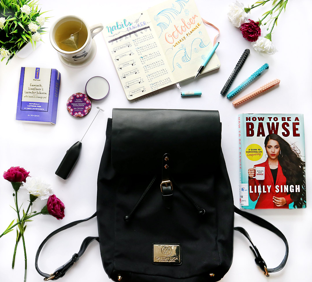 Gaston Luga Classy Black Backpack review, Spa Ceylon Natural Coconut Butter Lavender review