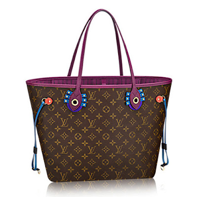 Louis Vuitton Neverfull Louis-Vuitton-Monogram-Coated-Canvas-Neverfull-MM-Totem-M41664-Magenta