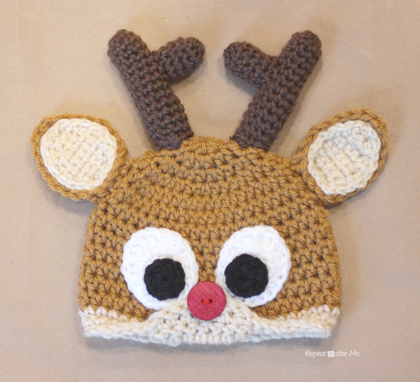 Crochet Reindeer Antlers Pattern - Repeat Crafter Me