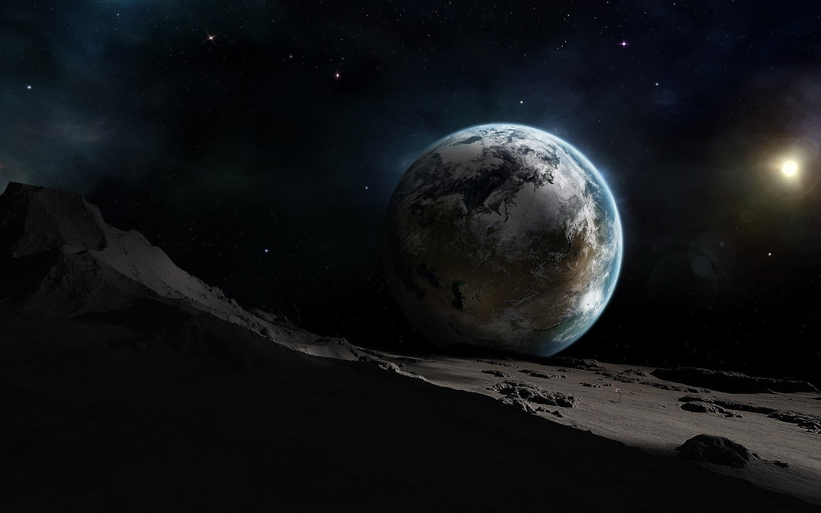 Cool photos 3d moon and earth wallpaper - Space moon wallpaper ...