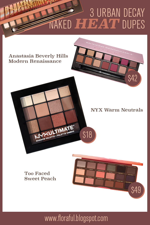 Bien-aimé 3 Urban Decay Naked Heat Dupes | Floraful PV92