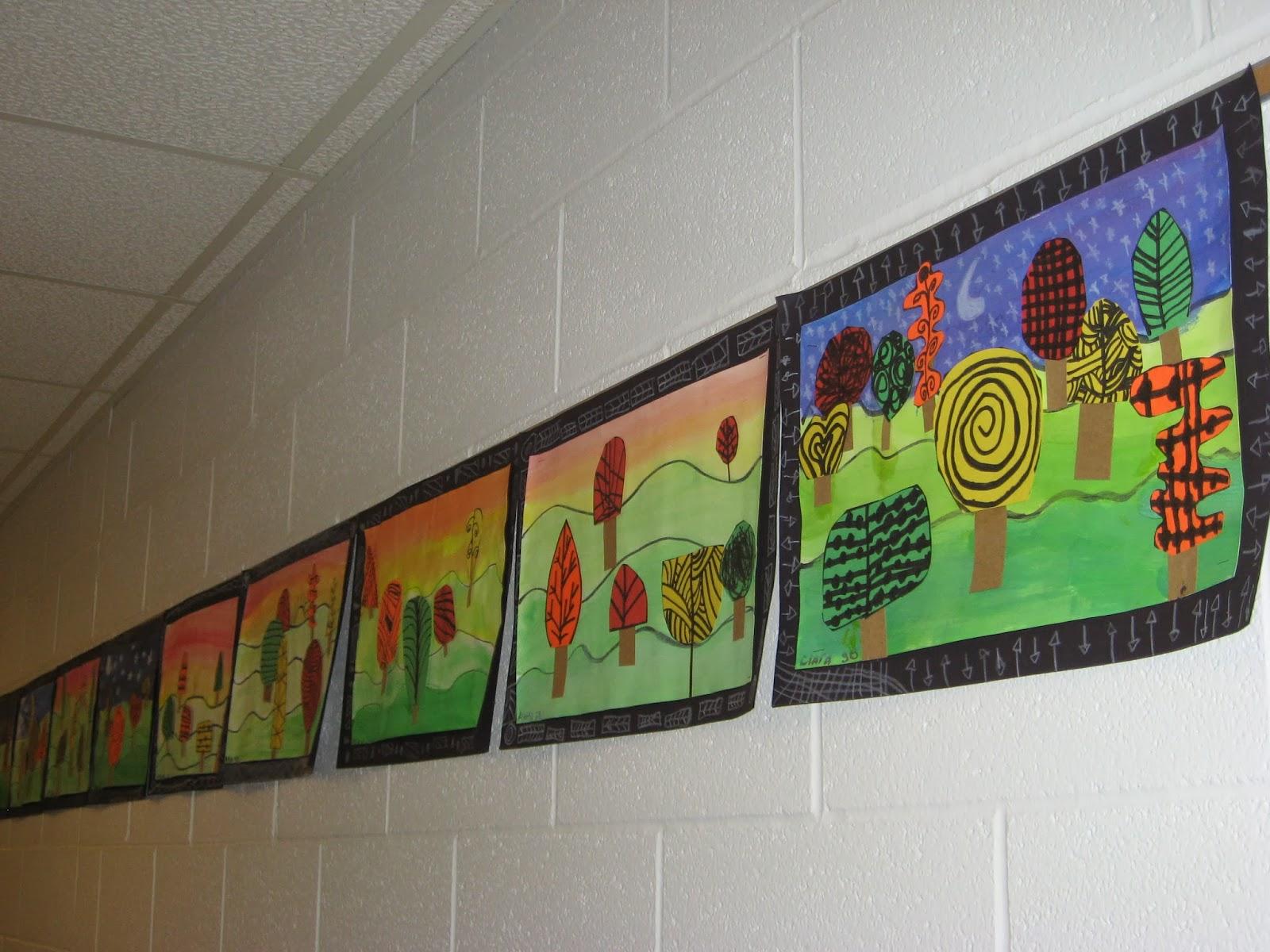 Jamestown Elementary Art Blog 3rd Grade Fall Landscapes