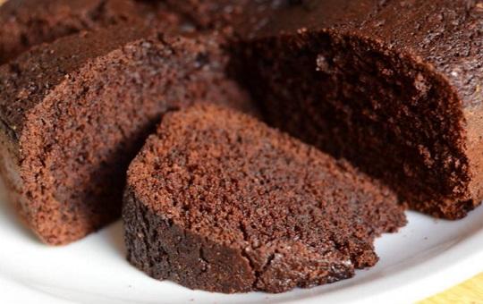 Torta de chocolate con agua hirviendo
