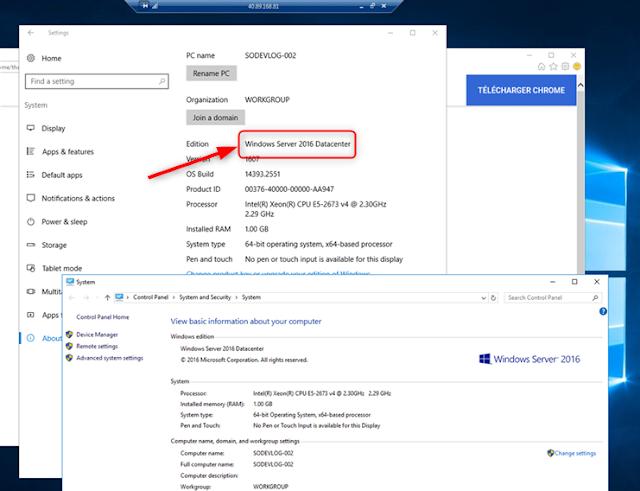 Installer Chrome sur un Windows 2016 Datacenter