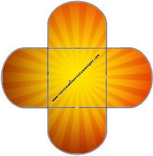 Fundo Laranja E Amarelo Kit Completo Com Molduras Para Convites