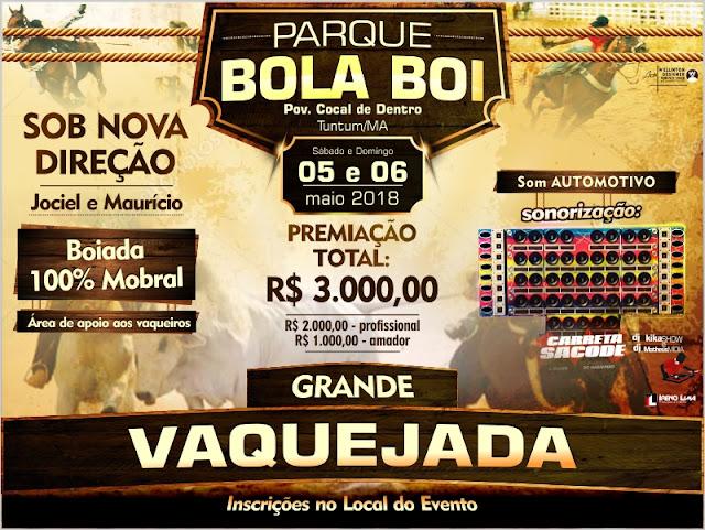 Grande vaquejada dias 5 e 6 no povoado Cocal de Dentro, no parque bola boi, Belém Barriguda Sertão.