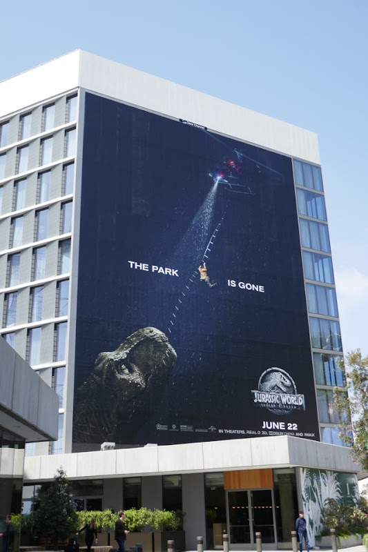 Giant Jurassic World Fallen Kingdom billboard