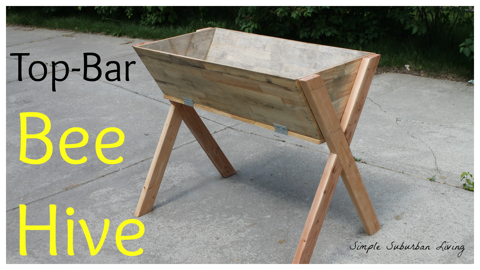 Top- Bar Bee Hive From Reclaimed Materials - Building the ...