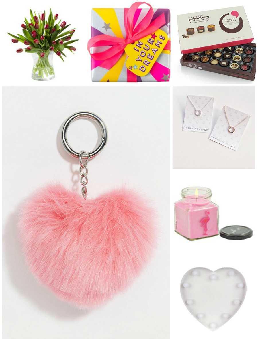 Valentine's Gift Guide For Her, Budget Version, Asos, Lily O Brien, Chocolates, Heart Pom Pom, Heart LED plaque, tips for Valentine's Day, Irish Blogger, NI blog