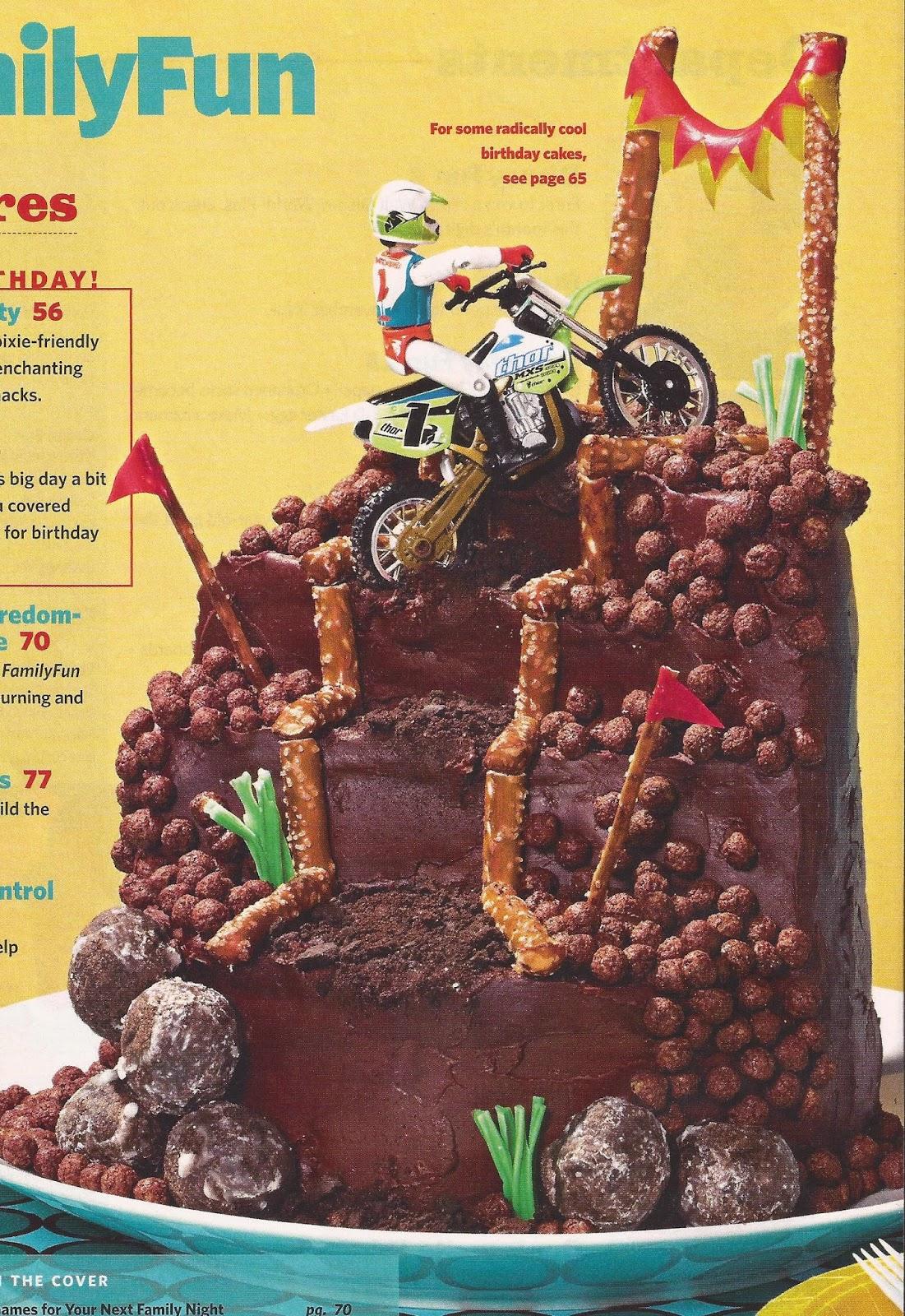 Dirt Bike Cake From March 2010 Family Fun Magazine