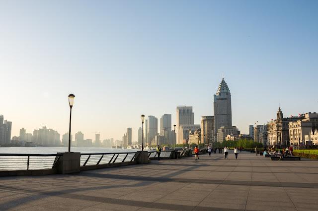 čína, china, šanghaj, shanghai, Bund, waitan, promenade