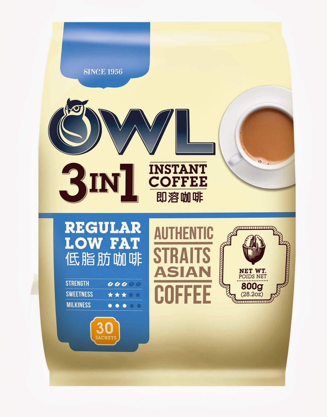 3-in-1 Instant Coffee Regular Low Fat