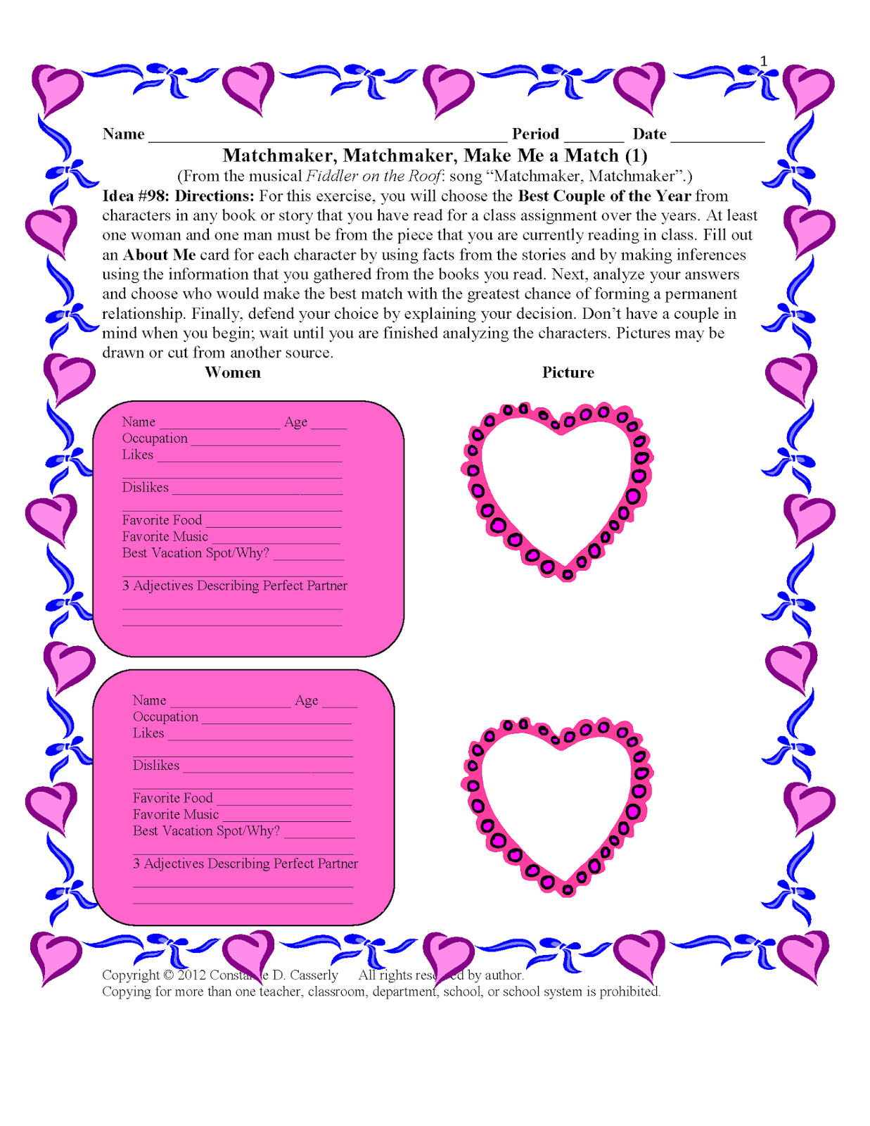 Teach It Write Valentine S Day Activities Duet