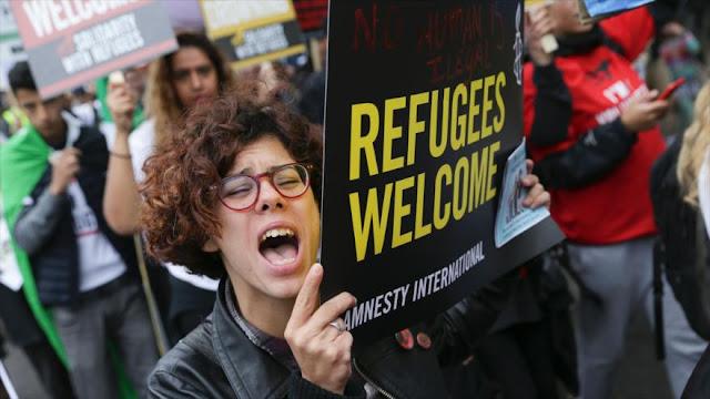 Londinenses piden al Gobierno británico recibir a refugiados