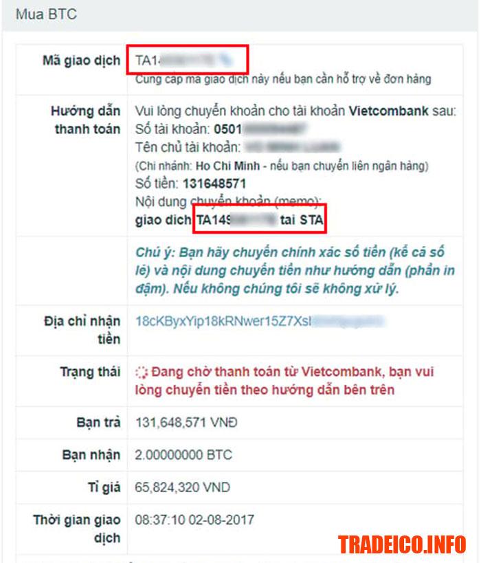Hướng dẫn cách mua bán Bitcoin trên sàn giao dịch Santienao.com
