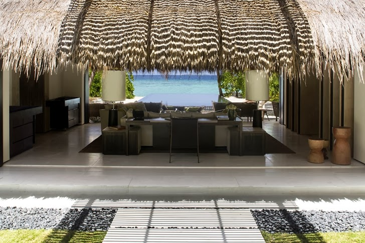 Inside of Modern villa in Maldives by Jean-Michel Gathy