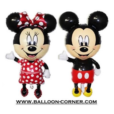 Balon Foil Mickey Minnie Mouse Hallo