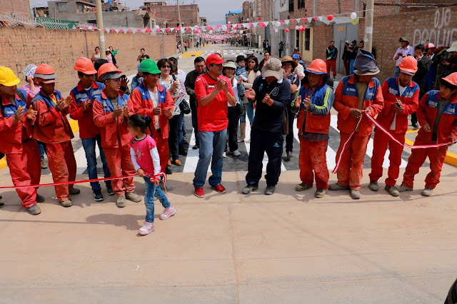 En El Tambo se cuadruplican las inauguraciones de obras esta vez fueron las calles Bolognesi, Tacna, Guardia Civil y Colón