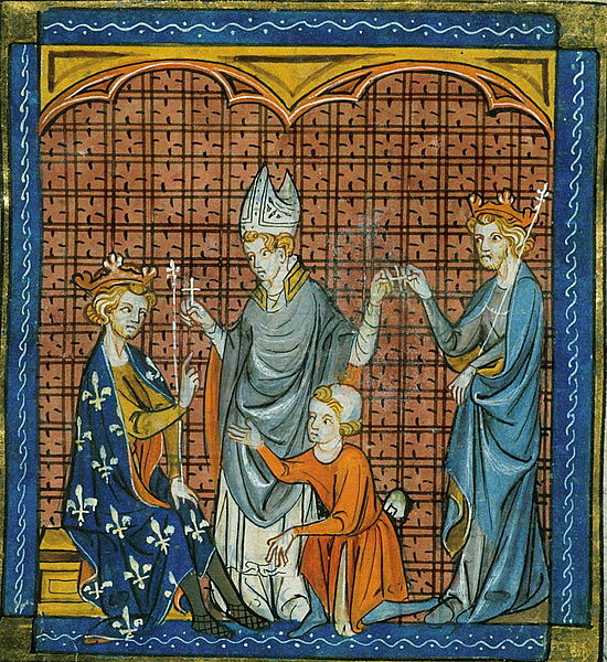 Philip II August of France and Henry II of England taking the cross