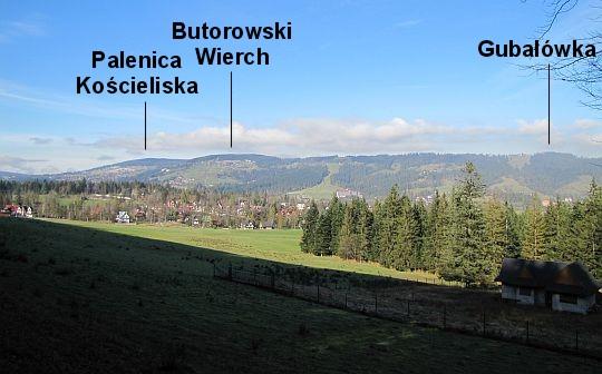 Pasmo Gubałowskie ze Ścieźki pod Reglami.