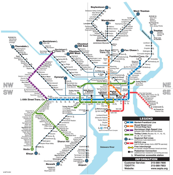 Amtrak Map Philadelphia Transit in Philadelphia   A confusing array of choices | Community