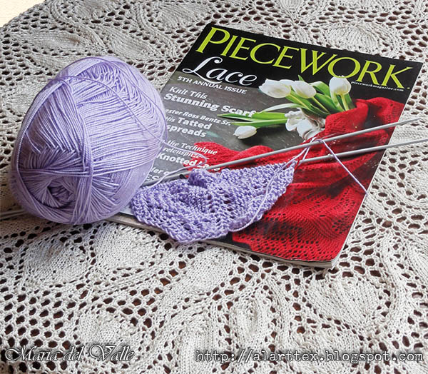 KAL Butterfly orenburg Shawl - Pieceweork Magazine
