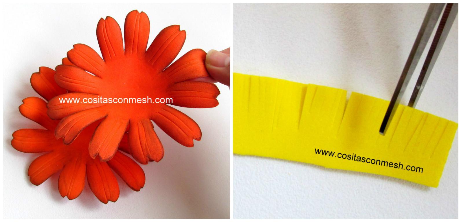 Manualidades de flores en foami paso a paso manualidades - Flore de goma eva ...