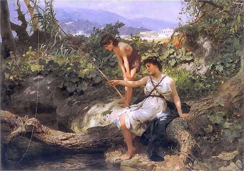 Pesca - A Cena da Vida Romana - Henryk Siemiradzki e suas pinturas ~ Polonês