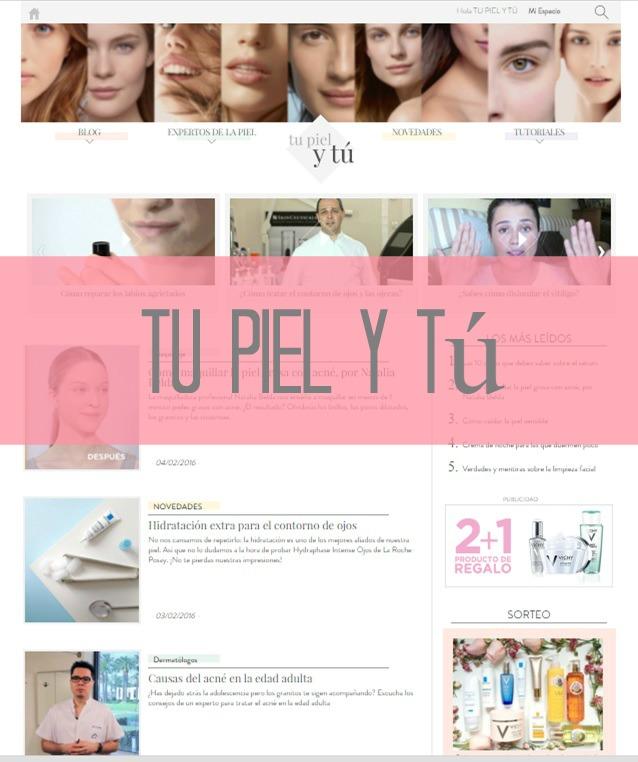 site sobre el cuidado de la piel