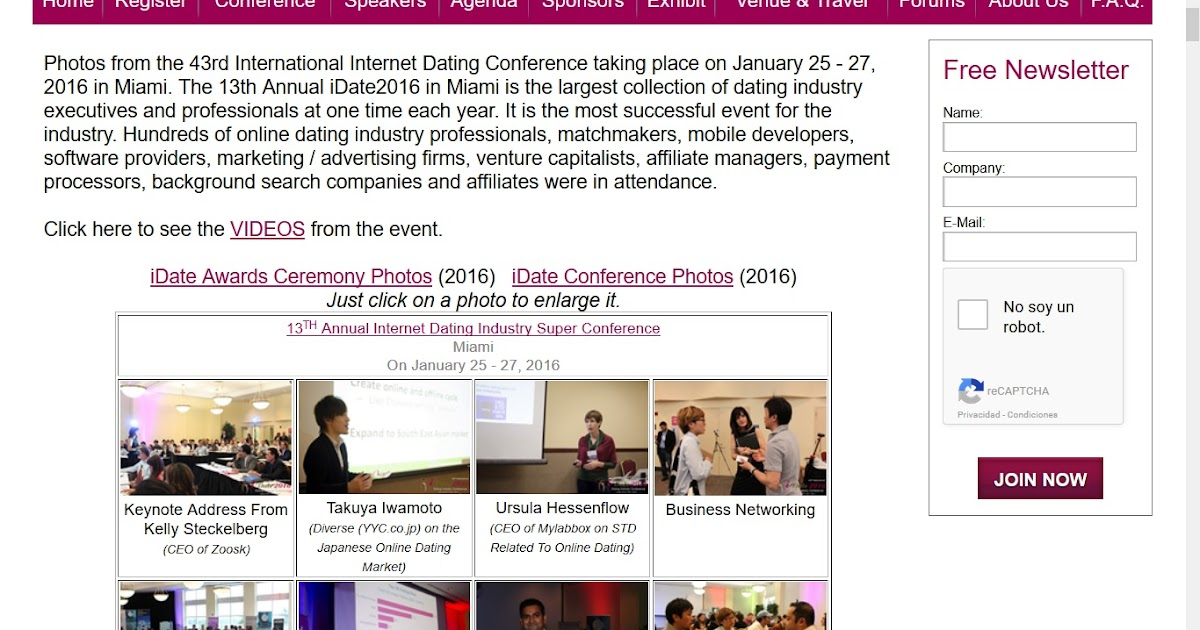 online dating conferences The 2018 idate conference held this october is the largest networking conference in the dating business attendees include founders, ceos and owners of the largest regional mobile and online.