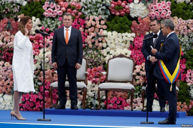 La vicepresidenta Marta Lucía Ramírez juramentó al cargo en la ceremonia en Bogotá / REUTERS