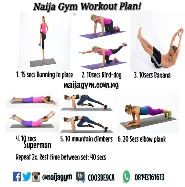 Tuesday 15/01 Workout plan