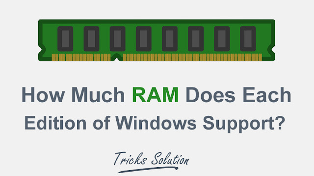 How Much RAM Does Each Edition of Windows Support?