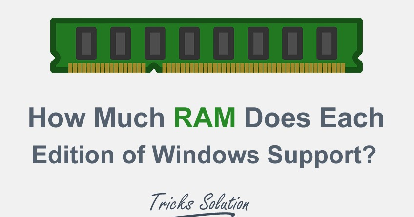 How Much Ram Does Each Edition Of Windows Support