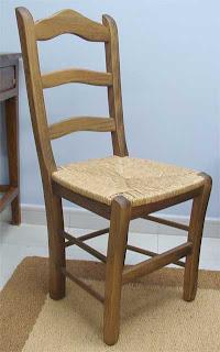 silla de pino, silla rustica, silla anea
