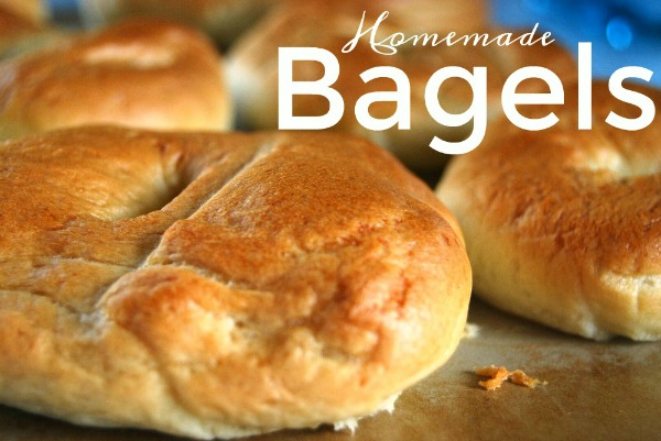 Homemade Bread Machine Bagels from Little House Living