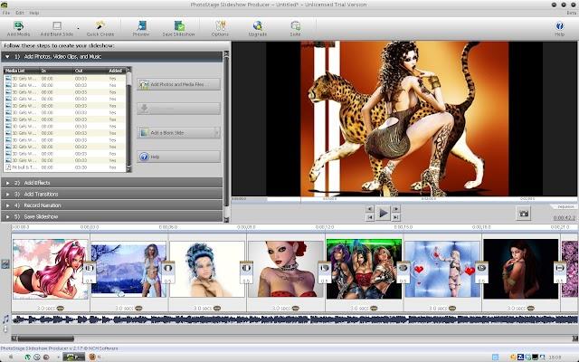 Photostage Slideshow Software 7.00 | Crear presentaciones de fotos con música y transiciones sin complicaciones