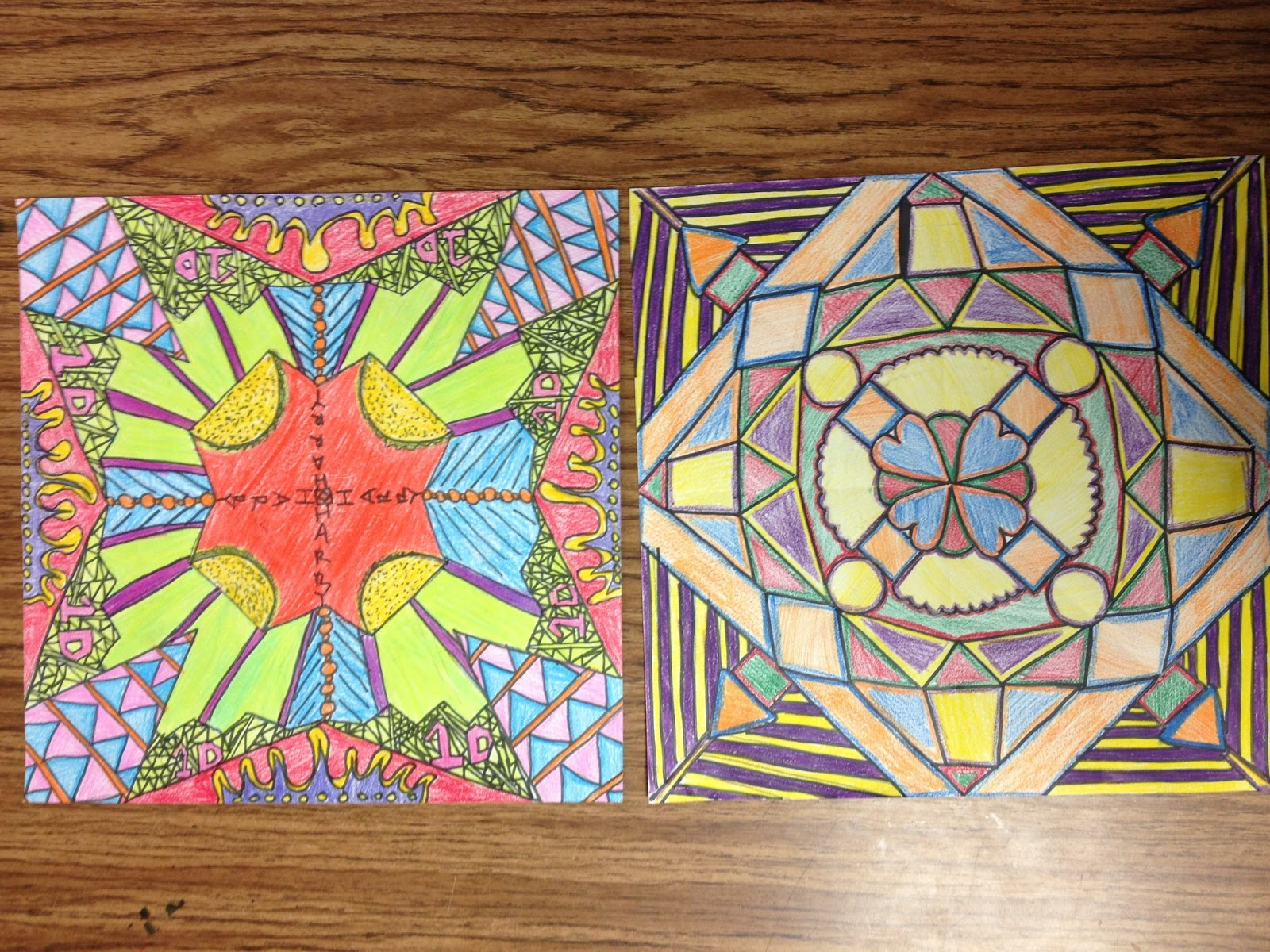 Color Me Michelle Radial Symmetry 6th Grade