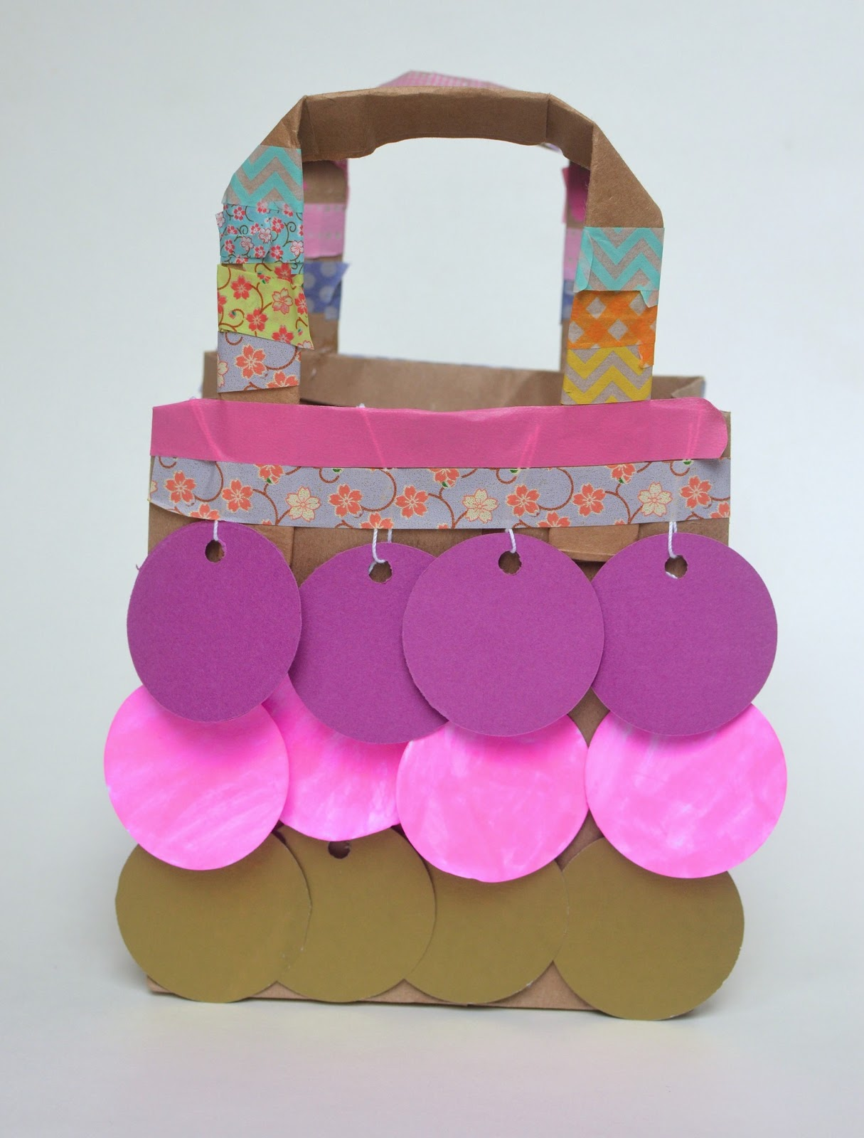 Paper Sequinned Handbag