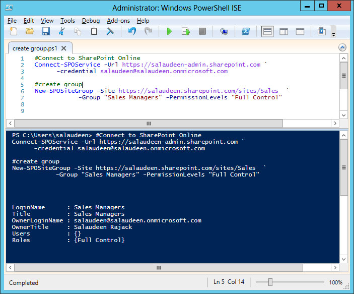 sharepoint online powershell create group