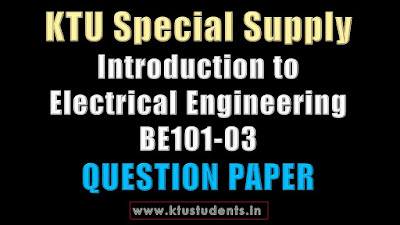 Introduction to Electrical Engineering BE101-03 KTU