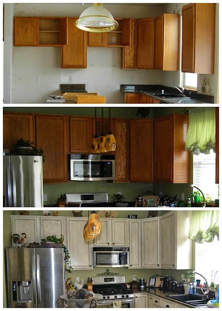 Glazed Kitchen Cabinets Grey