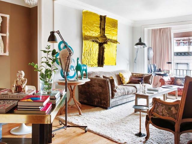 lienzo de gran formato sobre sofa chicanddeco