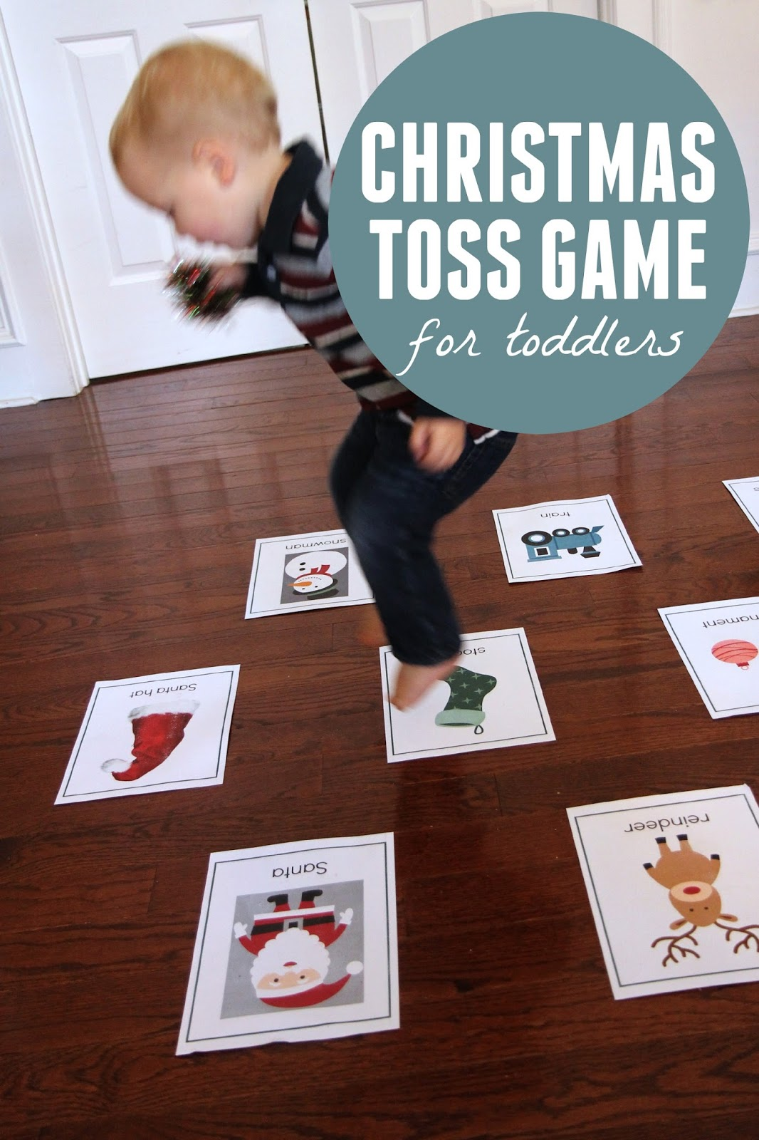 Toddler Approved Christmas Toss Game For Toddlers