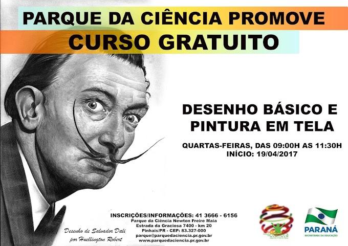 Parque da Ciência abre inscrições para Curso Gratuito de Desenho e Pintura em Tela!