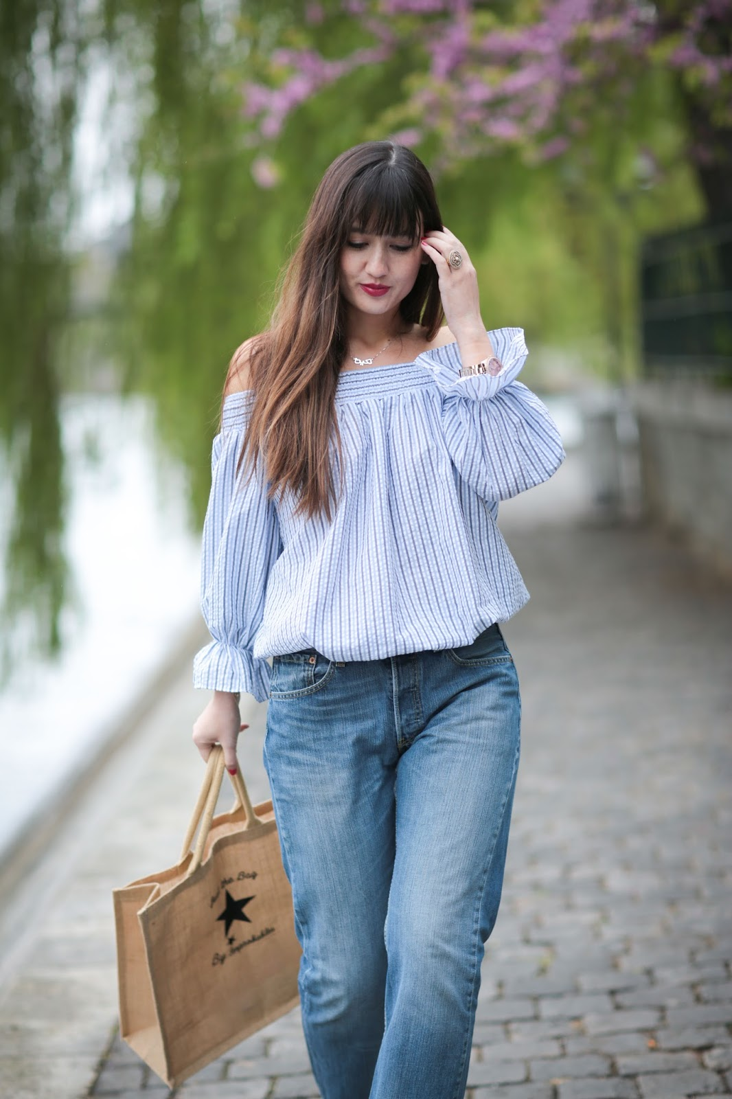 meetmeinparee, blogger, fashion, look, style, chic, spring style, off the shoulder top