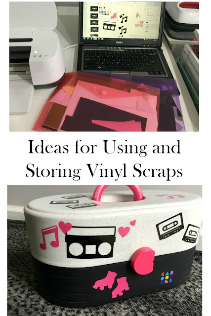 How to Use and Store Vinyl Scraps with Cricut