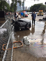 lamborghini huracan driver saved seconds before wrecked supercar bursts into flames. Black Bedroom Furniture Sets. Home Design Ideas