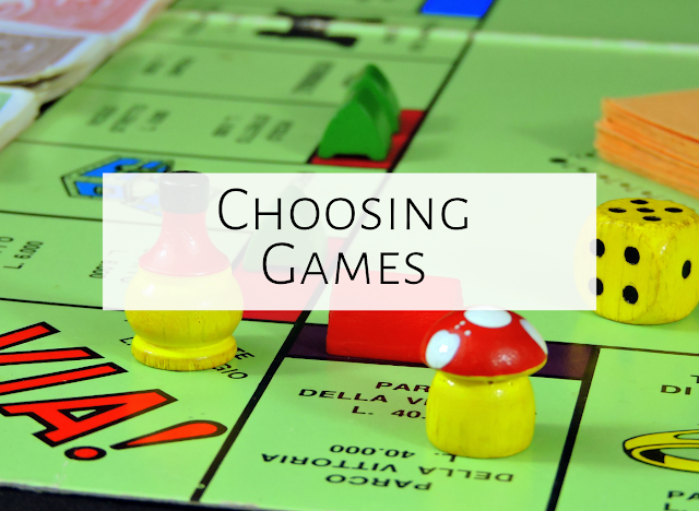 Choosing games and activities