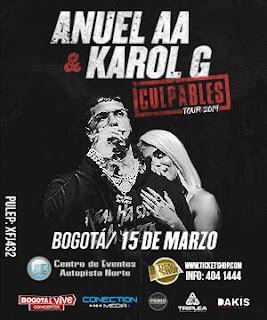 ANUEL & KAROL G en Colombia, Bogotá 2019 | Culpables Tour